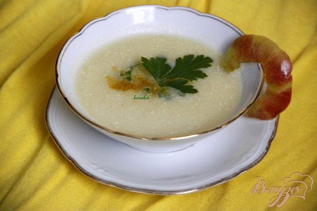 фото рецепта: Куриный суп с яблоками и карри