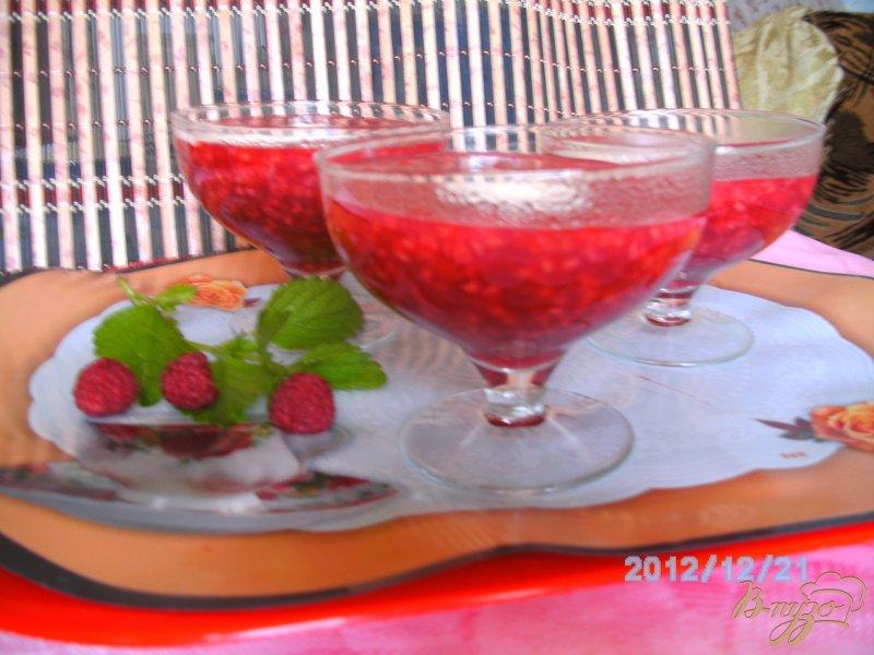 Фото приготовление рецепта: Кисель из малины шаг №4