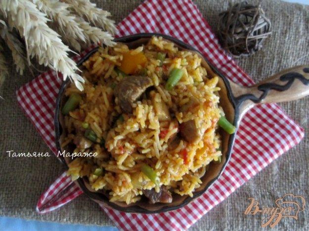 Рецепт Рис со свининой и зеленой фасолью