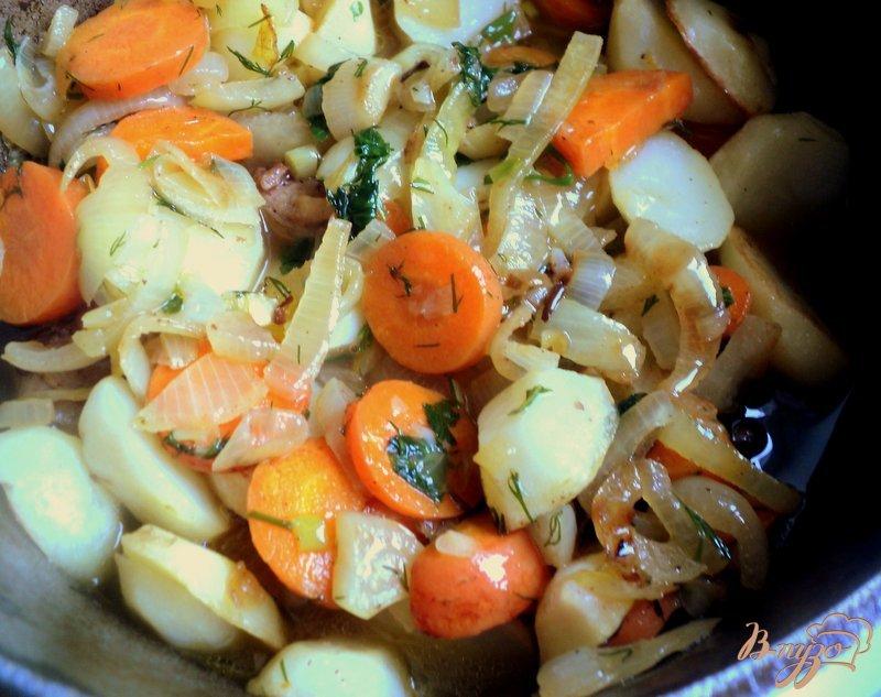 Фото приготовление рецепта: Жаркое из зайца или кролика шаг №7