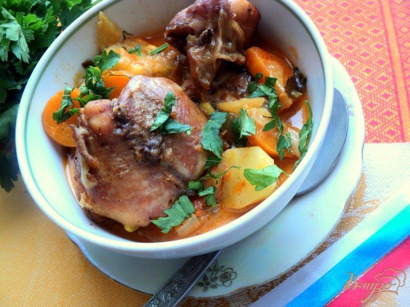 Фото приготовление рецепта: Жаркое из зайца или кролика шаг №9