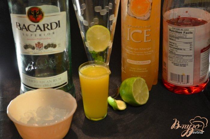 Фото приготовление рецепта: Апельсиновый Мохито шаг №1