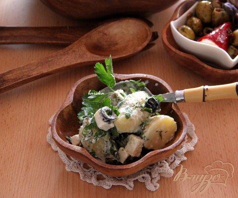 Рецепт Греческий картофельный салат с фетой