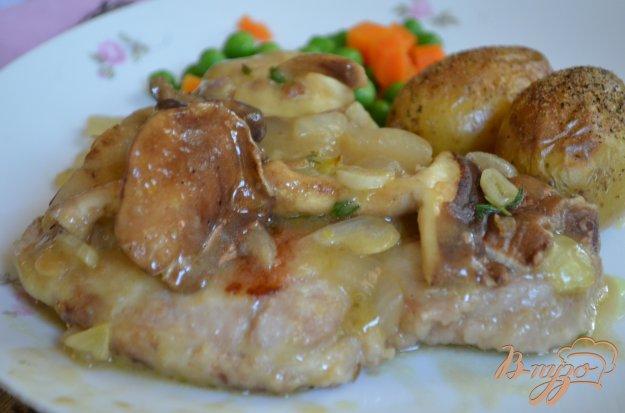 фото рецепта: Свиные котлеты с вином Марсала и грибами