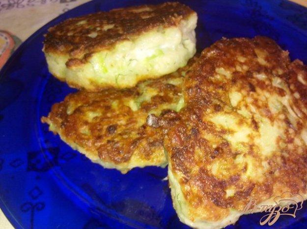 Рецепт Кабачковые оладьи с сыром и укропом