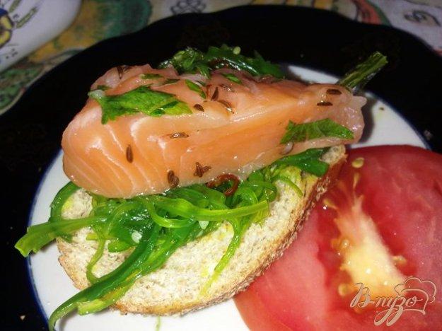 Рецепт Мало соленный лосось с тмином и петрушкой