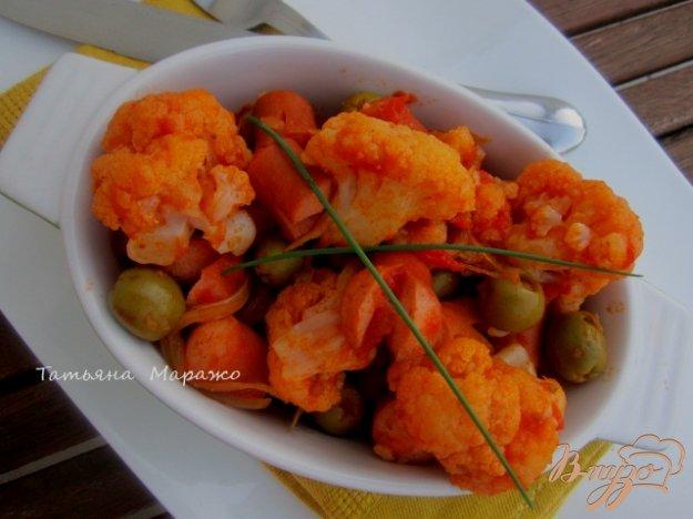 Рецепт Цветная капуста с оливками