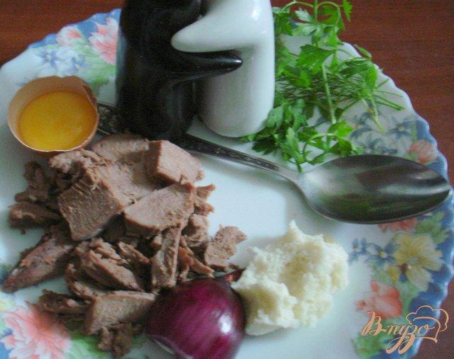 Фото приготовление рецепта: Фаршированный телячий язык шаг №5