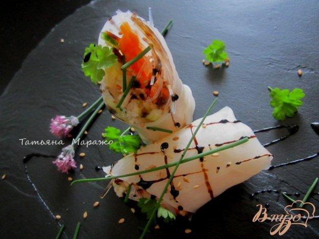 Рецепт Рисовые роллы с овощами и крабовым мясом