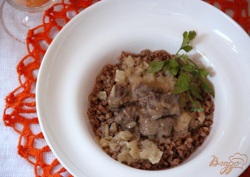 Фото приготовление рецепта: Фрикассе с говядиной шаг №9