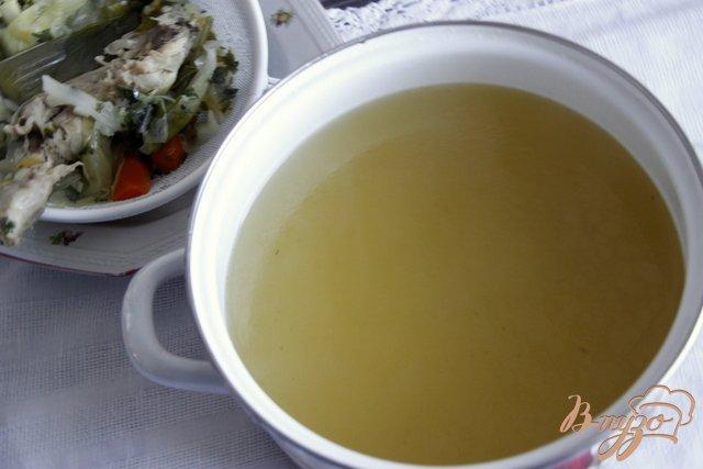 Фото приготовление рецепта: Греческий суп с творожно-рисовыми фрикадельками шаг №1