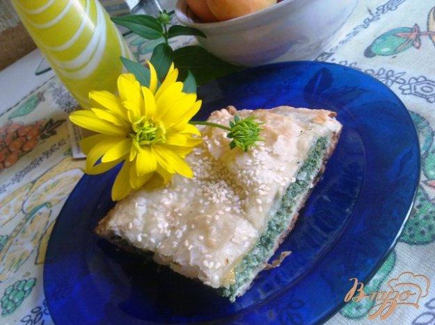 Рецепт Пирог со шпинатом и сыром камамбер