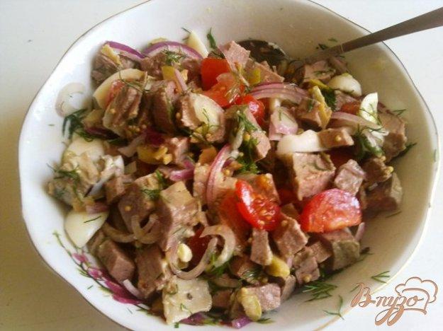 фото рецепта: Салат с говядиной и оливками