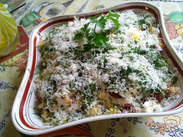 Рецепт Салат с сайрой горячего копчения