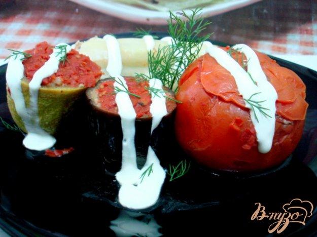 Рецепт Ассорти из фаршированных овощей