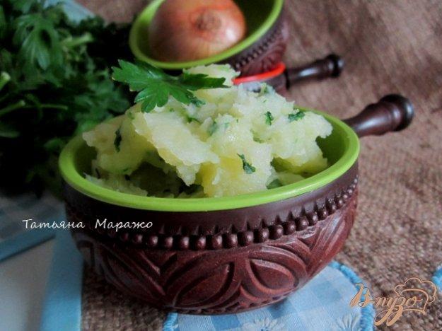 Рецепт Давленый картофель с луком и шпинатом