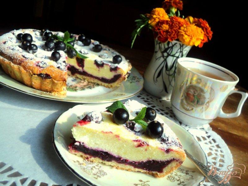 Фото приготовление рецепта: Тарт со смородиной и творогом шаг №10