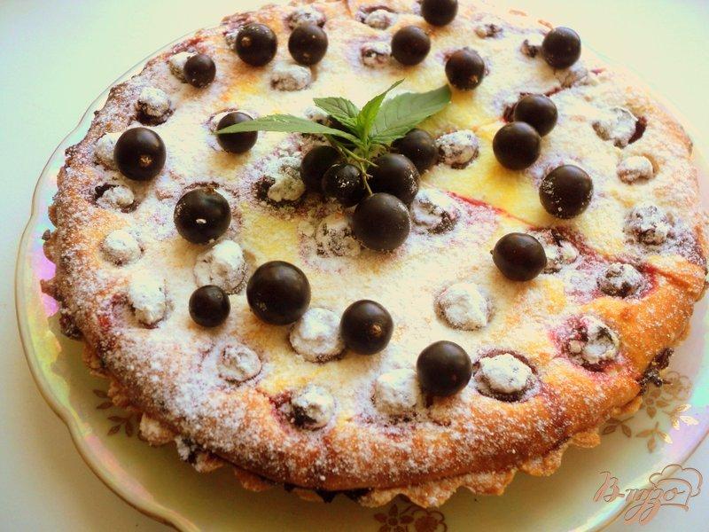 Фото приготовление рецепта: Тарт со смородиной и творогом шаг №9