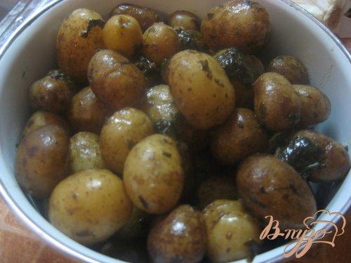 Картофель молодой с базиликом