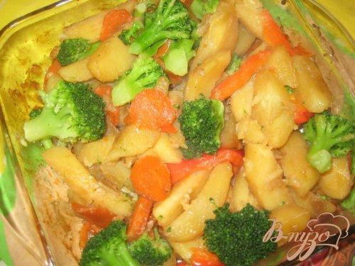 Картофель с брокколи