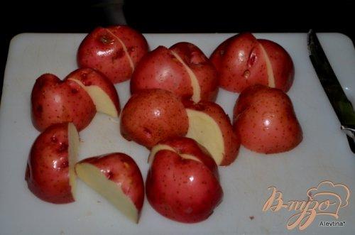 Картофель в фольге с овощами
