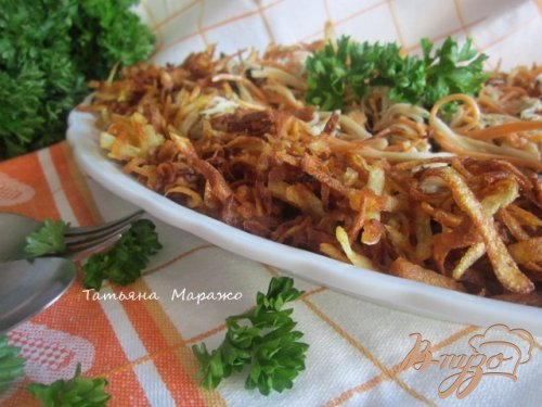 Овощной салат с хрустящим картофелем