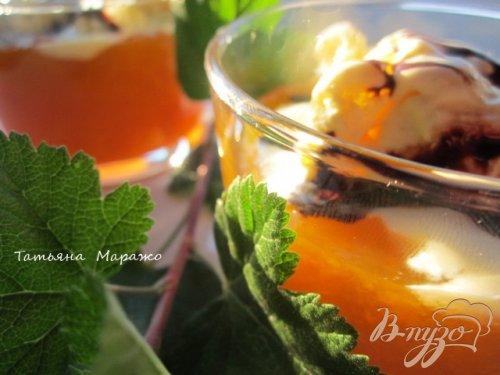 Абрикосовый десерт с мороженым