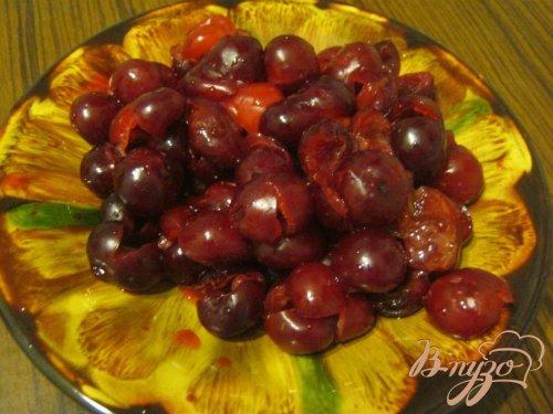 Пышная творожно-вишневая  запеканка