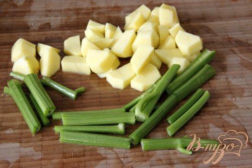 Суп из курицы с сельдереем по-гречески