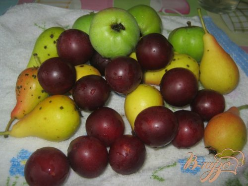 Повидло из яблок, груш и слив