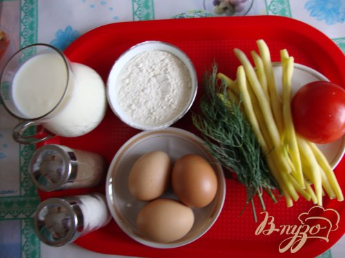 Омлет с овощами