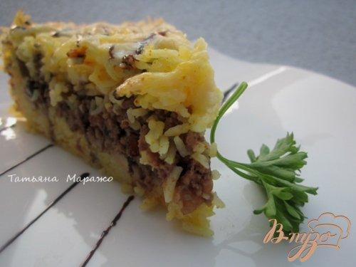 Рисовый пирог с мясной начинкой