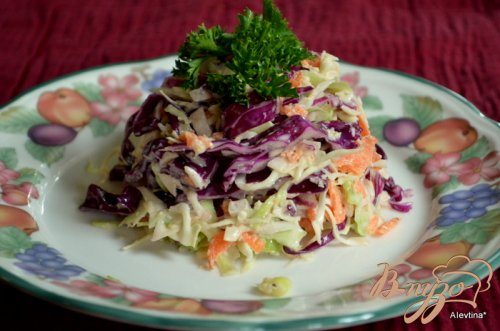 Пряный салат из капусты