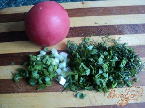 Салат с креветками в корзинках из лаваша