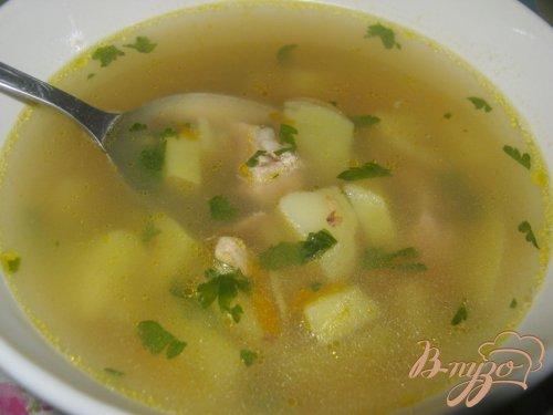 Мясной суп с гречневой крупой