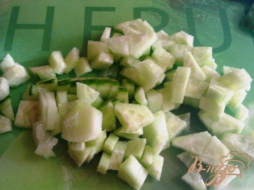 Салат овощной с творогом