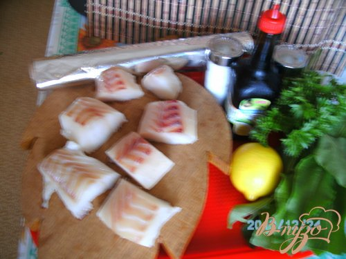 Рыба с шпинатом