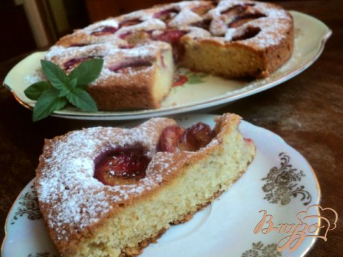 Сливовый «газетный»  пирог