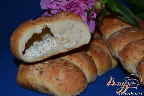 Сырный хлеб с творожной начинкой