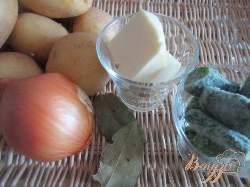 Давленый картофель с луком и шпинатом