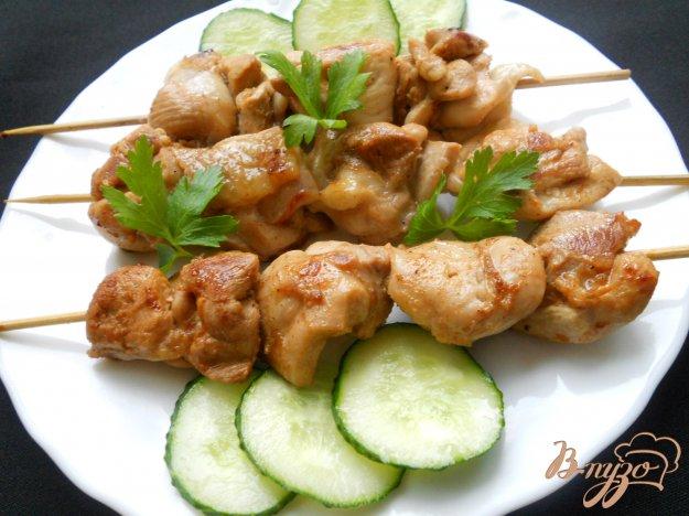 Рецепт Шашлык из курицы на сковороде