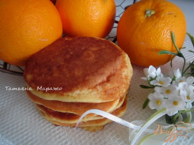 Рецепт Апельсиновые оладьи с изюмом