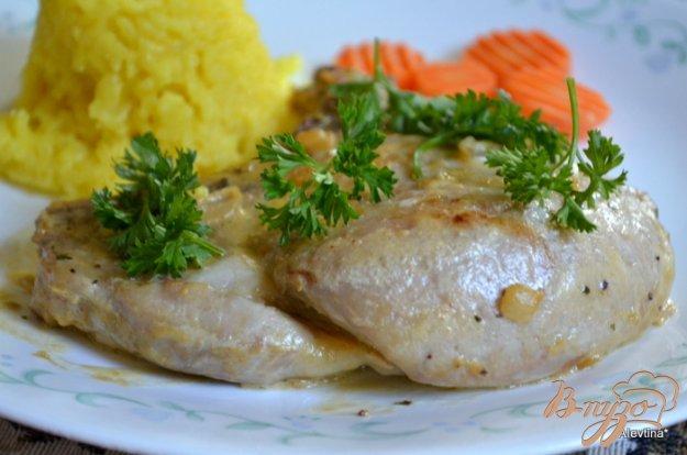 Рецепт Свиные котлеты на косточке с горчицей