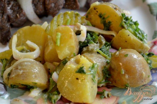Рецепт Салат картофельный с корнишонами