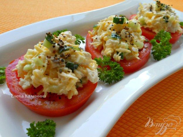 "Рецепт Закуска ""Салат на помидорах"""
