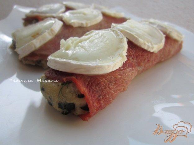 Рецепт Ветчинные рулетики с картофельной начинкой и козьим сыром