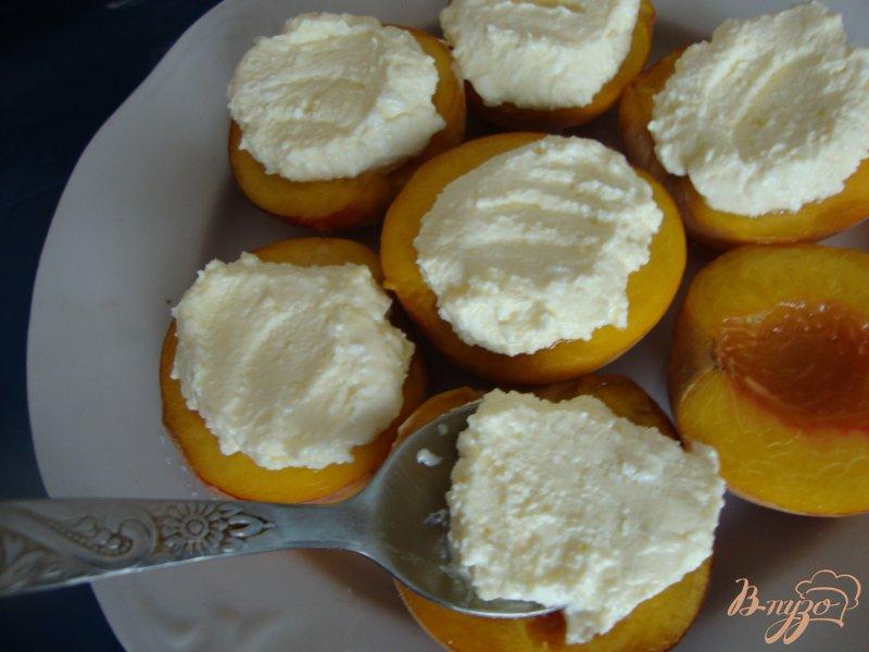 Фото приготовление рецепта: Персиковый   десерт шаг №3