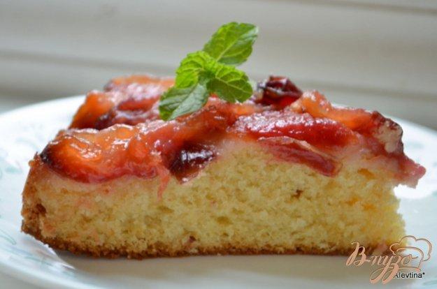 Рецепт Перевернутый сливовый кекс