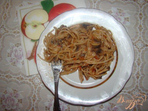 Рецепт Спагетти с грибами и помидорами
