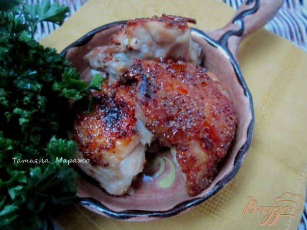 Рецепт Куриные бедрышки с горчично-апельсиновой глазурью